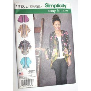 UNCUT Simplicity 1318 sewing pattern kimono jacket